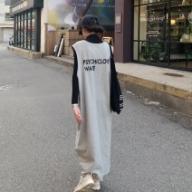 Fashion suit Spring of 2019 Average size Grey sweater long skirt, high collar t Other / other 31% (inclusive) - 50% (inclusive) polyester fiber