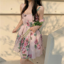 Dress Summer 2021 Decor S, M Short skirt singleton  Sleeveless commute other High waist Decor zipper A-line skirt routine camisole 18-24 years old Type A Other / other Korean version 51% (inclusive) - 70% (inclusive) other other