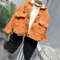 Plain coat Other / other male spring and autumn leisure time Single breasted nothing There are models in the real shot routine Solid color cotton Crew neck 12295 2 years old, 3 years old, 4 years old, 5 years old, 6 years old, 7 years old, 8 years old 90cm7, 100cm9, 110cm11, 120cm13, 130cm15