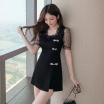 Fashion suit Summer 2021 S,M,L,XL,2XL black polyester fiber