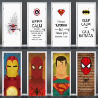 Wall stickers PVC Big and small Flat wall sticker Waterproof wall sticker Zhang Children's room Cartoon animation Simple and modern Picturesque home Marvel superhero door sticker