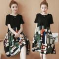 Dress Summer 2021 Picture color 50. XL, 2XL, 3XL, 4XL, 5XL, XXXs pre-sale Mid length dress singleton  Short sleeve commute Crew neck Socket routine Korean version 81% (inclusive) - 90% (inclusive)