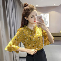 Lace / Chiffon Summer 2020 S,M,L,XL,2XL,3XL Short sleeve Versatile Socket singleton  easy have cash less than that is registered in the accounts routine 81% (inclusive) - 90% (inclusive)