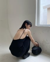 Vest sling Summer of 2019 black S, M singleton  routine other camisole Solid color 96% and above cotton fold