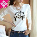 T-shirt S,M,L,XL,XXL,XXXL Spring 2016 Long sleeves Crew neck Self cultivation Regular routine commute cotton 96% and above 18-24 years old literature originality Cartoon, letter, solid color