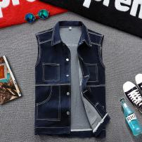 Vest / vest Youth fashion Others M,L,XL,2XL Black (y804-1), red (y8851-1) Other leisure Self cultivation Vest routine Four seasons stand collar teenagers 2021 Youthful vigor Single breasted other No iron treatment nothing Denim