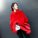 leather and fur Autumn of 2018 Yi Su Pink White Red Black Average size have cash less than that is registered in the accounts Long sleeves commute stand collar Lotus leaf sleeve other Imitation fur Korean version pc1886 25-29 years old Splicing