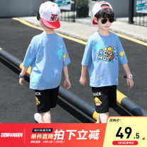 suit extremely Blue, white, coffee 110cm,120cm,130cm,140cm,150cm,160cm male summer leisure time Short sleeve + pants 2 pieces Thin money There are models in the real shooting Socket nothing other children Learning reward ZZ-YBT02181 Class B Other 100% 3 months Chinese Mainland Zhejiang Province