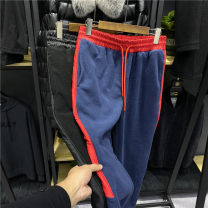 Casual pants Others Fashion City Black, Navy M,L,XL,2XL Plush and thicken trousers Other leisure Self cultivation tide
