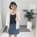 short coat Summer of 2018 Average code Chiffon sun protection clothing Seven sleeves Short paragraph Thin section Single Shawl type conventional Commuting Plant flowers Embroidered gauze 31% (inclusive) -50% (inclusive)