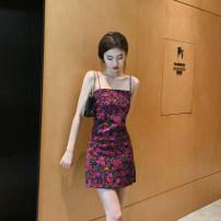 Dress Summer 2020 Decor S. M, l, XL Short skirt Sleeveless High waist Decor One pace skirt camisole 25-29 years old Type H