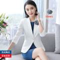 Professional dress suit S. M, l, XL, XXL, XXXL, other sizes Spring of 2018 three quarter sleeve A-line skirt 18-25 years old 91% (inclusive) - 95% (inclusive) polyester fiber
