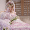 Dress Winter 2020 lilac colour S,M,L,XL Mid length dress Sweet other middle-waisted Princess Dress other Others 18-24 years old in an unbroken line flower More than 95% Lace Lolita