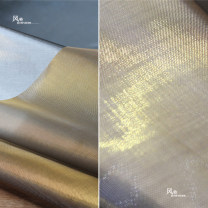 Fabric / fabric / handmade DIY fabric Others Gold and silver nylon cloth (half meter price), small sample 10 * 10cm Loose shear rice Solid color other clothing Europe and America Wind chime Perception of multi source gold silver nylon cloth