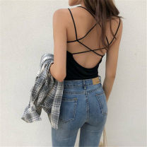 Vest sling Summer of 2018 Average size singleton  have cash less than that is registered in the accounts Self cultivation commute camisole other 18-24 years old Other / other backless