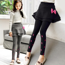 trousers Other / other female 110cm,120cm,130cm,140cm,150cm,160cm Black, gray, sapphire, plush black, plush sapphire spring and autumn trousers leisure time There are models in the real shooting Casual pants Leather belt High waist cotton Don't open the crotch Cotton 95.3% others 4.7% 22 3 Class B