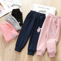 trousers Other / other female 100cm,110cm,120cm,130cm,140cm Light gray, black, sapphire, pink, leather powder (one size smaller) spring and autumn trousers Korean version No model Casual pants Leather belt middle-waisted cotton Don't open the crotch Other 100% Class B Sports pants