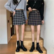 skirt Summer 2013 S,M,L Black check, khaki check Short skirt Sweet High waist lattice 18-24 years old A2036 91% (inclusive) - 95% (inclusive) other With your grace polyester fiber Stitching, collage / stitching, irregular