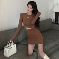 Fashion suit Autumn 2020 S, M Army green, khaki, coffee, light grey, cool black Other / other . 96% and above cotton