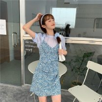 Fashion suit Summer 2021 S,M,L,XL Top + suspender skirt 18-25 years old
