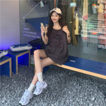 T-shirt Grey, white, coffee Average size Summer 2020 Sleeveless Crew neck easy Medium length cotton 96% and above 18-24 years old