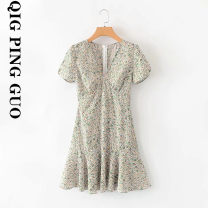 Dress Summer 2020 Decor S,M,L singleton  street Socket 18-24 years old Europe and America