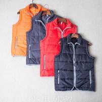 Vest / vest Youth fashion Others Other leisure standard Cotton vest routine autumn stand collar Large size 2019 tide ZJ zipper Cloth hem Silk like cotton