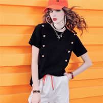 T-shirt White spot (delivery within 48 hours), black spot (delivery within 48 hours), white order, black order S,M,L,XL Summer 2021 Short sleeve Crew neck easy Regular routine commute cotton 96% and above 30-39 years old classic maialika