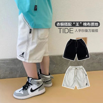 trousers Komori's male 90, 100 (model), 110, 120, 130, 140, 150, 160 Black spot, white spot, white expected 5.2 arrival, black expected 5.2 arrival summer shorts leisure time There are models in the real shooting Casual pants Leather belt middle-waisted cotton Don't open the crotch 6 years old