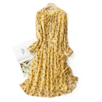 Wedding dress Spring 2021 yellow Medium M, l, 1XL, 2XL, 3XL, 4XL, 5XL, s Three dimensional cutting Large size polyester fiber