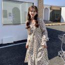Dress Spring 2021 White, black Average size Middle-skirt singleton  Long sleeves Sweet