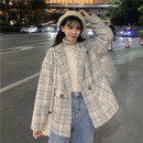 woolen coat Autumn 2020 Average size Khaki cotton, khaki thin polyester fiber 31% (inclusive) - 50% (inclusive) have cash less than that is registered in the accounts Long sleeves Sweet tailored collar 7218# 18-24 years old