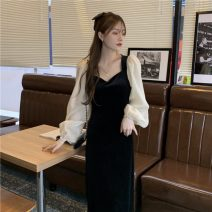 Dress Winter 2020 black Average size Mid length dress