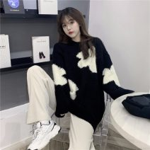 sweater Winter 2020 Average size black Long sleeves Socket singleton  Medium length other 95% and above commute 18-24 years old