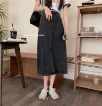 skirt Summer 2021 Average size Blue, black Mid length dress commute Natural waist other other Type H 18-24 years old 71% (inclusive) - 80% (inclusive) other cotton 401g / m ^ 2 (inclusive) - 500g / m ^ 2 (inclusive)