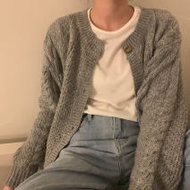 sweater Autumn 2020 Average size Long sleeves Cardigan Regular acrylic fibres 30% and below Regular Keep warm and warm Single breasted