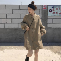 Fashion suit Autumn 2020 Average size Grey khaki, brick red 18-25 years old 96% and above cotton