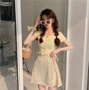 Wool knitwear Summer 2021 S. M, average size Short sleeve cotton 31% (inclusive) - 50% (inclusive) commute Korean version