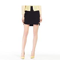 skirt Summer 2016 1/XS,2/S,3/M,4/L,5/XL,6/XXL,7/XXXL,8/XXXXL,9/XXXXXL Plain black Short skirt commute Natural waist 35-39 years old KWUX20209 91% (inclusive) - 95% (inclusive) Annakro / annakro polyester fiber Ol style