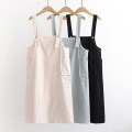 Dress Summer 2021 Blue, apricot, black Average size Sweet Solid color pocket F 51% (inclusive) - 70% (inclusive) cotton