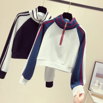 Sweater / sweater Autumn 2020 Black, Navy S. M, l, XL, 34.8 yuan from 500 pieces Long sleeves have cash less than that is registered in the accounts Socket singleton  routine other Straight cylinder commute raglan sleeve Color matching 25-29 years old 31% (inclusive) - 50% (inclusive) Other / other