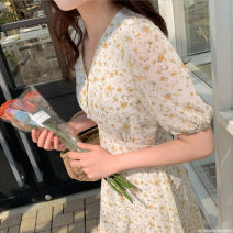Dress Summer 2020 Picture color S,M,L,XL Mid length dress singleton  Short sleeve Sweet V-neck Loose waist other other routine Others Type A Other / other 51% (inclusive) - 70% (inclusive) other other Mori