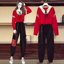 Fashion suit Autumn 2020 XXL, XL, XXXL, large L milky white 18-25 years old 81% (inclusive) - 90% (inclusive)