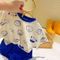 suit Other / other Short sleeve + shorts 90cm,100cm,110cm,120cm,130cm,140cm neutral spring and autumn leisure time Short sleeve + pants routine Socket nothing Cartoon animation other 7 years, 12 months, 3 years, 3 months, 6 years, 18 months, 9 months, 6 months, 2 years, 5 years, 4 years