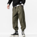 Casual pants Others Youth fashion Black, army green M,L,XL,2XL,3XL,4XL,5XL routine Ninth pants Other leisure easy spring Large size tide 2020 Little feet Pocket decoration