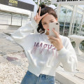 Sweater / sweater Spring of 2019 Blue, white XS,S,M,L,XL Long sleeves have cash less than that is registered in the accounts Socket singleton  routine Crew neck easy commute Korean version cotton