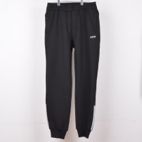 Casual pants Others Youth fashion black M,L,XL,2XL,3XL routine trousers motion Straight cylinder Micro bomb autumn youth Youthful vigor 2019 middle-waisted Little feet Sports pants pocket Solid color other nylon nylon Domestic famous brands 30% (inclusive) - 49% (inclusive)