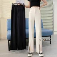 Suit pants / suit pants S,M,L Black, white Spring 2021 Broad foot High waist trousers routine 18-24 years old 30% and below lovers Korean version