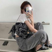 Fashion suit Summer 2020 Average size Black sling, white backing t248
