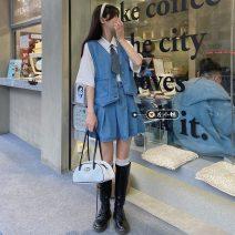 Fashion suit Summer 2021 S. M, l, average size Shirt, tie, denim suit 18-25 years old